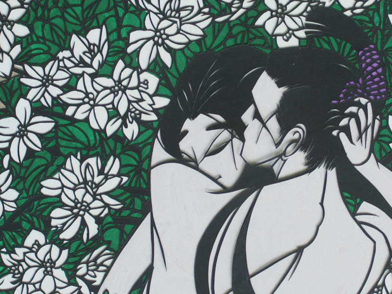 CURRENT EXHIBITION: The Tale of Genji – KIRIE art exhibition by Hobo Komiyama